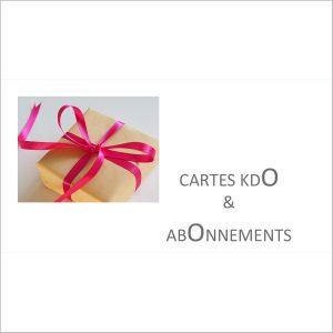 CARTES KDO & ABONNEMENTS